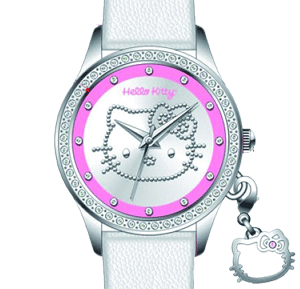Ceas original Hello Kitty cu cristale