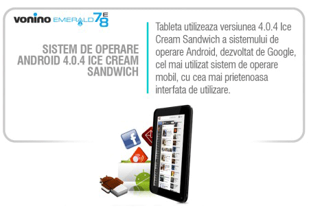 Tableta cu Android Vonino 78 E Emerald