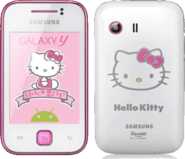 Samsung S5360 Galaxy Y, Pure White Hello Kitty