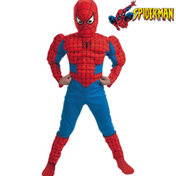Costum Spiderman cu muschi si masca