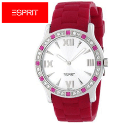 Ceas de dama RED Crystal by Esprit