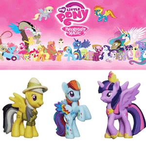 Set 3 mini-figurine My Little Pony