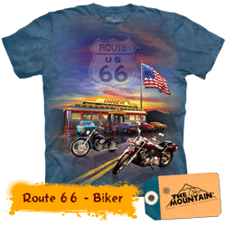 Tricou tridimensional The Mountain Route 66 Biker