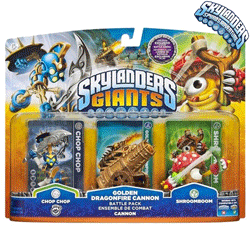 Chop Chop, Golden Dragonefire Cannon, Shroomboom - Skylanders Giants