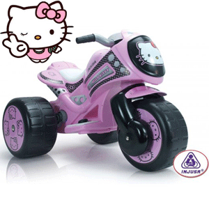 Injusa – Tricicleta Electrica Tribike Hello Kitty 6V fetite 2-5 ani