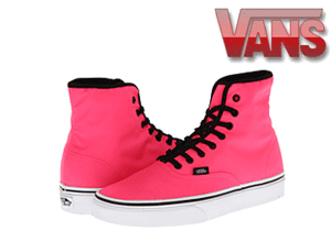 Skate Shoes Vans pentru Fete: SK8 Pink Authentic Hi