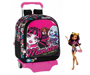 Ghiozdan cu troler Monster High
