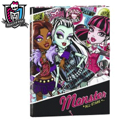 Mapa A4 cu elastic Monster High
