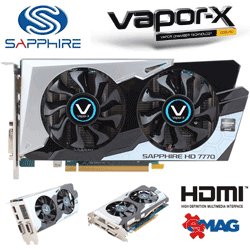 Placa video Sapphire AMD Radeon HD 7770 Vapor-X GDDR5