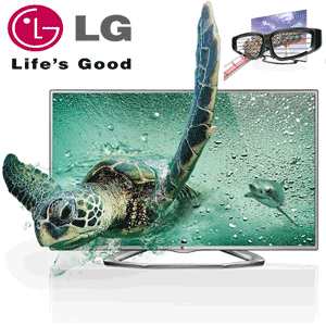 Televizor Cinema 3D Full HD, 81 cm LG 32LA6130 + 2 ochelari 3D Party Pack