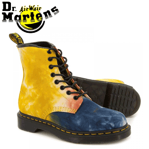 Ghete colorate Dr Martens Castel Acid Tie