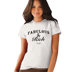 Tricou fete Fabulous & Rich - Mesaje Funny Ruby Fashion