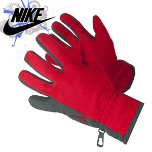 Manusi Unisex Nike Fleece Sport Gloves Red