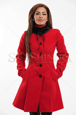 Palton LaDonna Clasic Look Red