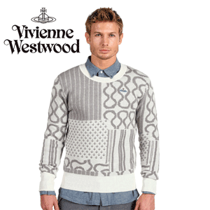 Pulover barbatesc Vivienne Westwood MAN Squiggle Jacquard Sweater