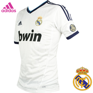 Tricou fotbal Adidas Real Madrid, echipament original, emblema Real Madrid