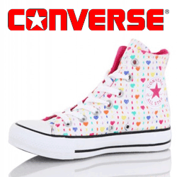 Bascheti Converse Hearts Print All Star femei