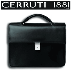 Genti si serviete business din piele Parker – Cerruti: documente, laptop si voiaj