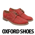Pantofi Oxford dama Red Flowers