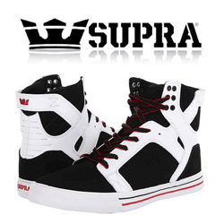 Skate Shoes Supra Skytop Black & White