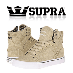 Skate Shoes Supra Skytop Kaki