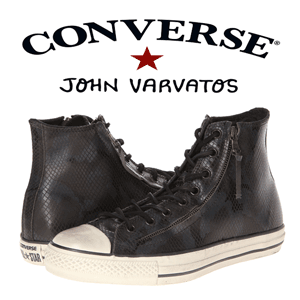Converse by John Varvatos Chuck Taylor All Star Double Zip Hi - Snake Emboss