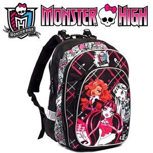 Ghiozdan anatomic si ergonomic Monster High