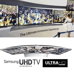 Samsung UltraHDTV Curved on amazon