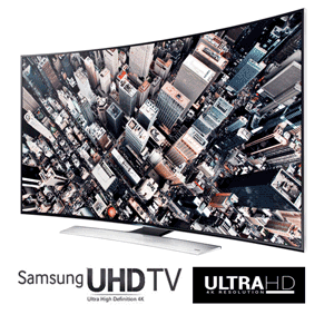 Televizoarele curbate Samsung Curved UHD (Ultra High Definition) cu diagonala mare
