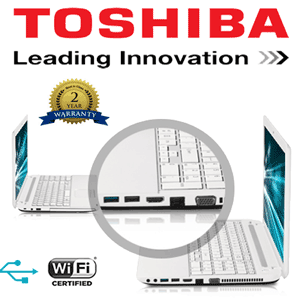 Laptop performant si elegant de culoare alba Toshiba Satellite C Series