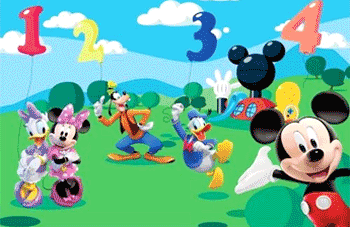 Fototapet de dimensiune mare Mickey Mouse Clubhouse