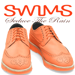 vezi in magazin Pantofii ploaie Swims Charles Full Brogue Orange