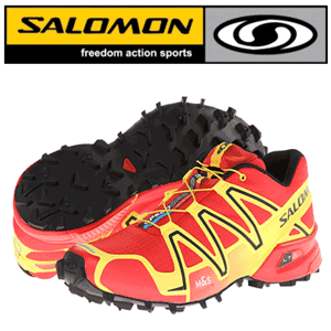Ghete portocalii Hiking Salomon Speedcross 3
