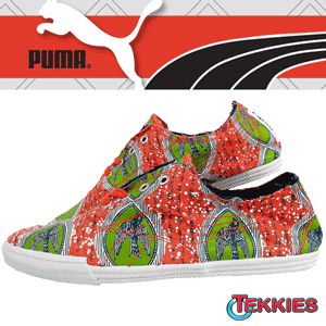 Tenisi dama Puma Tekkies World Top, colorati si imprimati deosebit