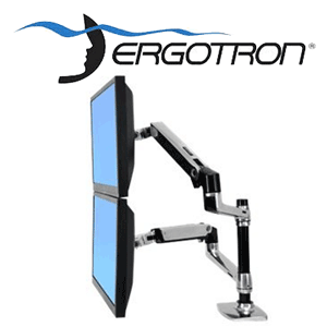 Ergotron 45-248-026 LX Dual Stacking Arm