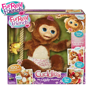 FurReal Friends - Maimutica Cuddles My Giggly Jucarie interactiva la Noriel
