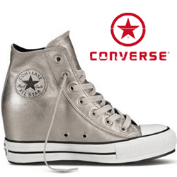 Bascheti din piele Platforme Converse Chuck Taylor All Star Portrait Leather 544921