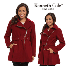 Paltoane si jachete din lana Kenneth Cole Asymmetrical Wool Coat