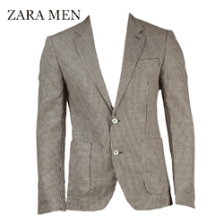 Sacou barbatesc Zara Men Dante Dark Pink in carouri