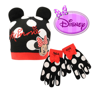 Set manusi si caciulita fetite Disney Minnie Mouse