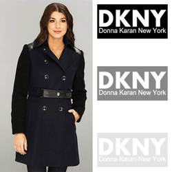 DKNY Trench w/ Boiled Wool Sleeve Coat