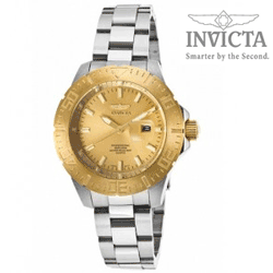 Ceas Fashion Invicta Pro Diver Gold Tone Dial Stainless Steel