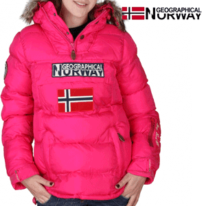 Geaca Geographical Norway Bolide captusita, roz intens