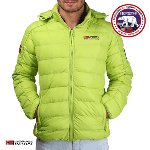 Geaca Geographical Norway Bellissimo captusita verde deschis
