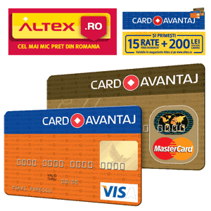 Oferta Altex si Card Avantaj Plata in Rate