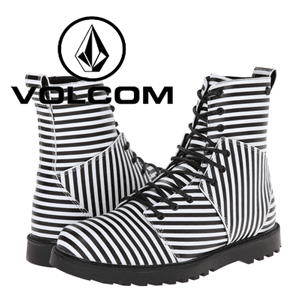 Ghete dama Volcom Go Figure Black & White Stripes