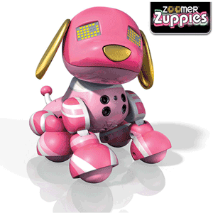 Catelusii roboti inteligenti Zoomer Zuppies Spot si Candy
