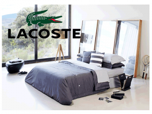 Lenjerie dormitor Lacoste Brushed Twill Solid Twin Comforter Set