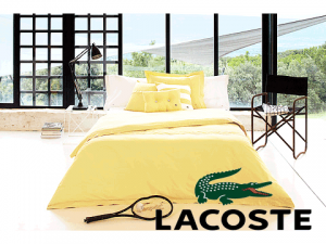 Lenjerie de pat Lacoste Brushed Twill Solid Twin Comforter Set
