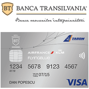 Informatii Card calatorii Banca Transilvania Flying Blue Bilete de avion Mile Premium